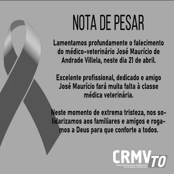 nota de pesar - José Maurício