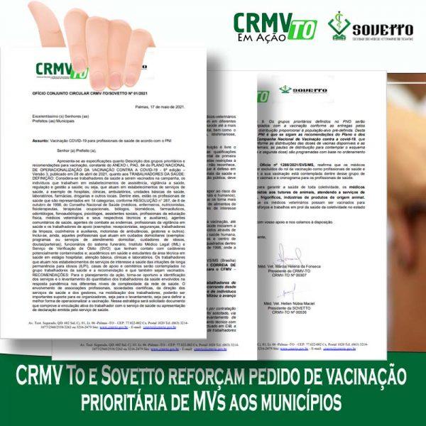 crmv to reitera pedido de prioridade na vacinação de mvs card - 21.05