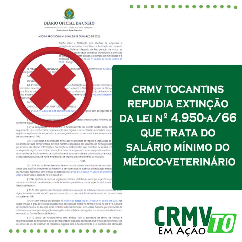 CRMV repudia emenda jabuti da MP 1.040