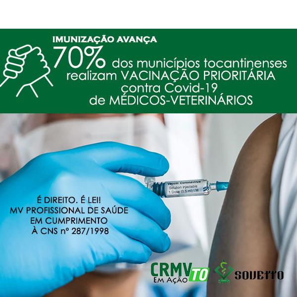 70% doss municípios tocantinenses estão vacinando mvs