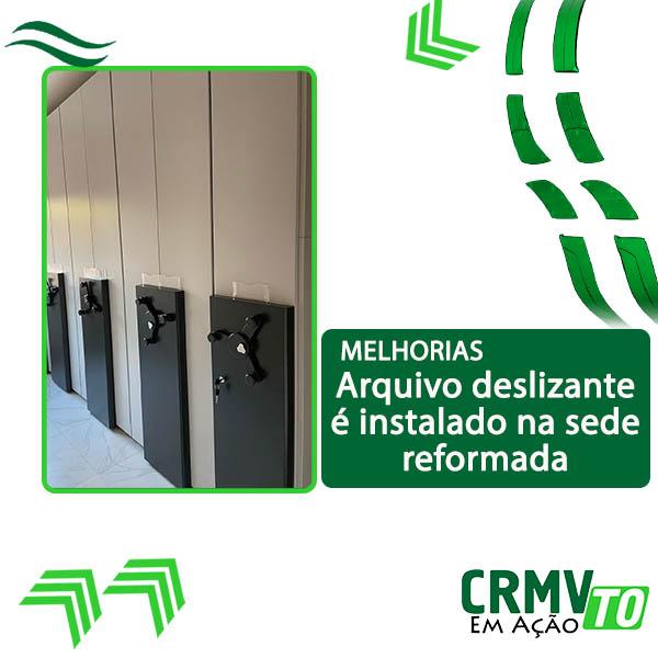 arquivo deslizante é instalado na sede reformada - 11.09